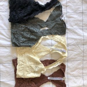 Free People Lace Bralettes